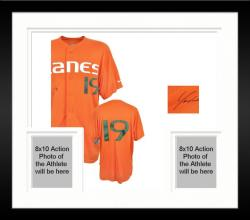 Framed Yonder Alonso Miami Hurricanes Autographed Game Used Jersey