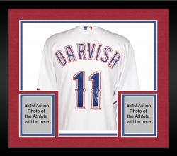 Framed Yu Darvish Texas Rangers Autographed White Authentic Jersey