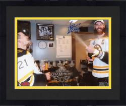 """Framed Zdeno Chara Boston Bruins 2013 Stanley Cup Champions Autographed 8"""" x 10"""" Stanley Cup Celebration Photograph"""