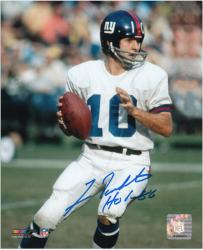 "Fran Tarkenton New York Giants Autographed 8x10 Photograph with ""HOF 86"" Inscription - Mounted Memories"