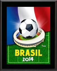 "France 2014 Brazil Sublimated 10.5"" x 13"" Plaque"