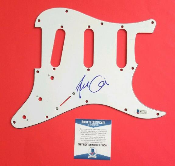 FRANCES BEAN COBAIN SIGNED STRAT GUITAR PICKGUARD WITH BAS COA Kurt Nirvana