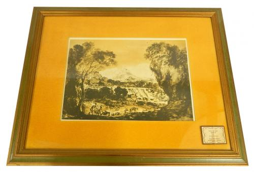 """Francesco Zuccarelli """"The Road Home"""" Print Framed 25"""" x 20"""" Turner's Collection"""