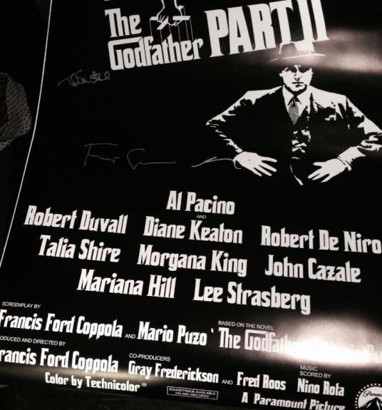 Francis Ford Coppola Al Pacino Talia Shire Signed Autograph Godfather 2 Poster