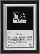 Francis Ford Coppola Framed Autographed The Godfather Movie Poster