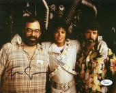 FRANCIS FORD COPPOLA HAND SIGNED 8x10 PHOTO+COA    WITH MJ+GEORGE LUCAS   JSA