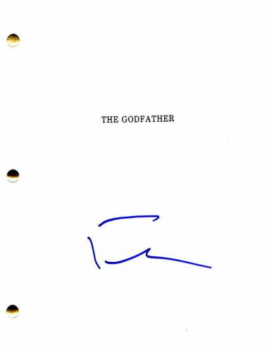 Francis Ford Coppola Signed Autograph - The Godfather Movie Script - Al Pacino