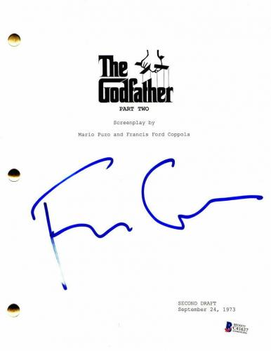 Francis Ford Coppola Signed Autograph - The Godfather Part 2 Script - Al Pacino