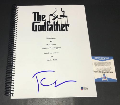 Francis Ford Coppola Signed Autographed The Godfather Full  Script Beckett Bas 3