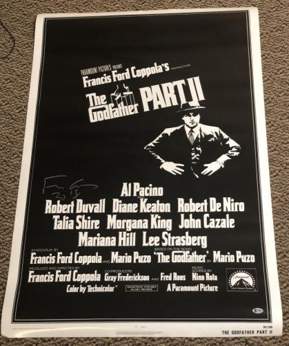 Francis Ford Coppola Signed Full Size Godfather 2 Poster Autograph Beckett Coa