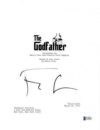 Francis Ford Coppola Signed Godfather Part Script Autograph Proof Psa Coa