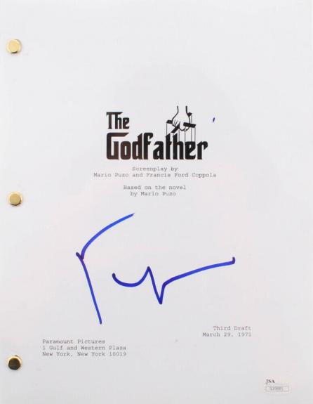 "FRANCIS FORD COPPOLA SIGNED ORIGINAL ""THE GODFATHER"" FULL MOVIE SCRIPT w/JSA COA"
