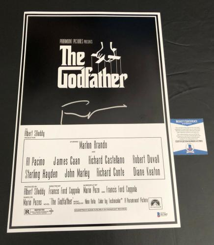 Francis Ford Coppola Signed The Godfather 12x18 Poster Autograph Beckett Coa 5