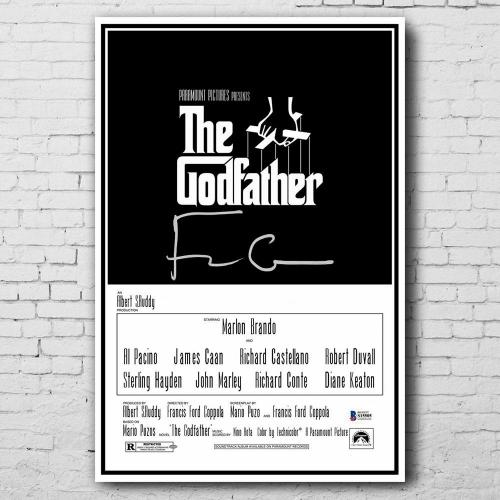 Francis Ford Coppola THE GODFATHER Signed 12x18 Movie Poster BAS COA