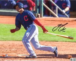 Francisco Lindor Cleveland Indians Autographed 8'' x 10'' Dropping Bat Photograph