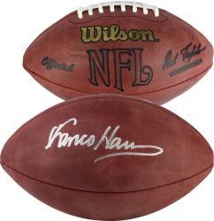 Franco Harris Autographed Football - Mounted Memories