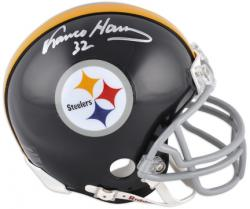 Franco Harris Pittsburgh Steelers Autographed Throwback Riddell Mini Helmet - Mounted Memories