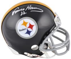 Franco Harris Pittsburgh Steelers Autographed Throwback Riddell Mini Helmet