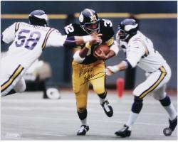 "Franco Harris Pittsburgh Steelers Autographed 16"" x 20"" Action Black Uniform Photograph"