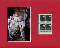 Frank Borman Jim Lovell William Anders Apollo 8 Photo Display Postal Stamp Block
