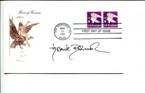 Frank Brunner Comic Book Artist Doctor Strange Walt Disney Imagineer Signed FDC