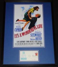 Frank Capra Signed Framed It's a Wonderful Life 18x24 Poster Display JSA