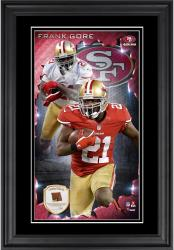 Frank Gore San Francisco 49ers 10'' x 18'' Vertical Framed Photograph with Piece of Game-Used Football - Limited Edition of 250