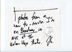 Frank Gorshin Batman Villian The Riddler Twelve Monkeys Signed Autograph Note