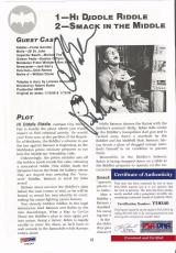 "Frank Gorshin ""riddler Of Batman"" Signed Autographed 7x9 Book Page Psa/dna Coa"