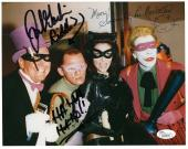 FRANK GORSHIN+LEE MERIWETHER HAND SIGNED 8x10 PHOTO      CATWOMAN+RIDDLER    JSA