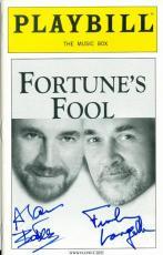 Frank Langella Alan Bates autographed Broadway Playbill Fortunes Fool