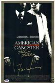 Frank Lucas & Richie Roberts Signed American Gangster 11x17 Poster PSA/DNA COA