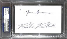 Frank Lucas & Richie Roberts Signed Index Card PSA/DNA COA American Gangster