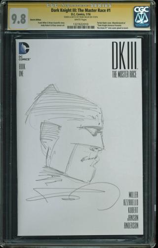 Frank Miller Batman Signed Dark Knight III The Master Race #1 w/ Sketch CGC 9.8