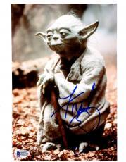 "Frank Oz Autographed 8"" x 10"" Star Wars Yoda Photograph - BAS COA"