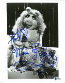 """Frank Oz Autographed 8"""" x 10"""" The Muppets Miss Piggy B&W Photograph With Miss Piggy Inscription - BAS COA"""