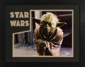 """Frank Oz Framed Autographed 11"""" x 14"""" Star Wars: Episode II- Attack Of The Clones Photograph Horizontal - PSA/DNA COA"""