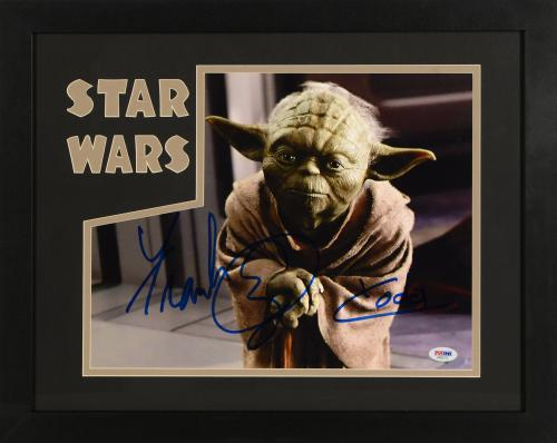 "Frank Oz Framed Autographed 11"" x 14"" Star Wars: Episode II- Attack Of The Clones Photograph Horizontal - PSA/DNA COA"