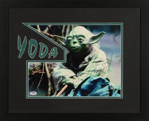 "Frank Oz Framed Autographed 11"" x 14"" Star Wars: Episode II- Attack Of The Clones Photograph - With Yoda Inscription PSA/DNA COA"