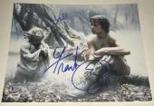 Frank Oz Mark Hamill Signed 11x14 Photo Yoda Star Wars Proof Autograph Beckett B