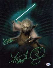 Frank Oz SIGNED 11x14 Photo Yoda Star Wars PSA/DNA AUTOGRAPHED