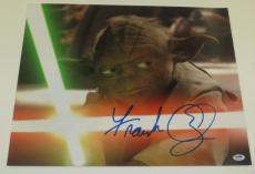 Frank Oz Signed 16x20 Photo Yoda Star Wars Proof Photo Authentic Autograph Psa B