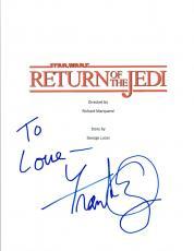 Frank Oz Signed Autograph STAR WARS RETURN OF THE JEDI Script COA VD