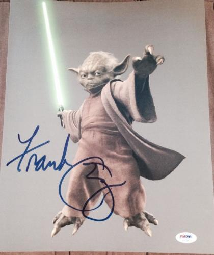 FRANK OZ SIGNED AUTOGRAPH STAR WARS YODA POSTER PROMO 11x14 PHOTO PSA/DNA COA