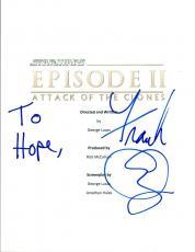 Frank Oz Signed Autographed STAR WARS ATTACK OF THE CLONES Script COA VD