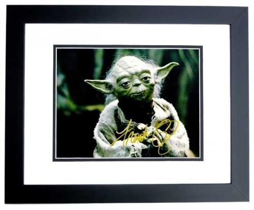 Frank Oz Signed - Autographed STAR WARS Yoda 11x14 inch Photo BLACK CUSTOM FRAME - Guaranteed to pass PSA or JSA