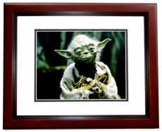 Frank Oz Signed - Autographed STAR WARS Yoda 11x14 inch Photo MAHOGANY CUSTOM FRAME - Guaranteed to pass PSA or JSA