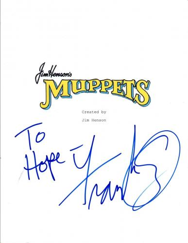 Frank Oz Signed Autographed The Muppet Movie Full Movie Script COA VD