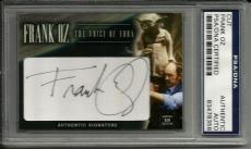 Frank Oz STAR WARS VOICE OF YODA Signed Custom CARD #'d 1/1 PSA/DNA Slabbed