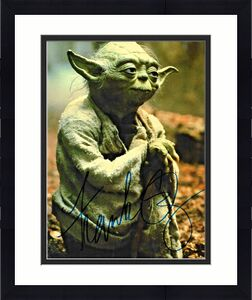 Frank OZ Star Wars Yoda Empire Strikes Back Signed Auto 8x10 Photo DG COA (A)